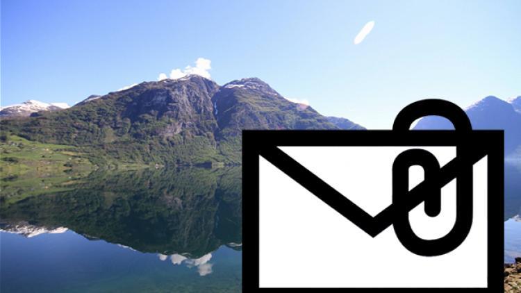 """Een foto via e-mail versturen vanuit de toepassing """"Foto's"""""""