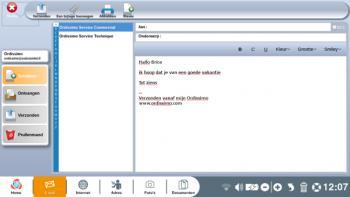 """Presentatie van de applicatie """"Mail"""""""